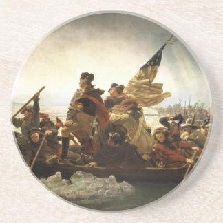 Washington Crossing the Delaware - 1851 Sandstone Coaster