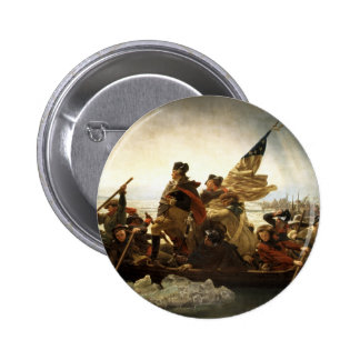 Washington Crossing the Delaware 6 Cm Round Badge