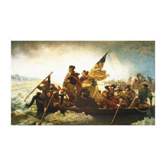 Washington Crossing the Delaware by Emanuel Leutze Canvas Prints