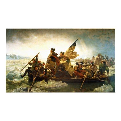 Washington Crossing the Delaware by Emanuel Leutze Art Photo