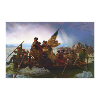 Washington Crossing the Delaware by Emanuel Leutze Stretched Canvas Prints