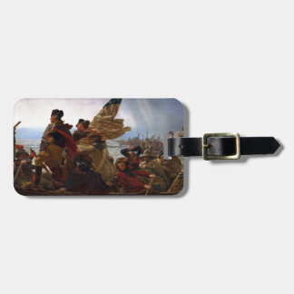 Washington Crossing the Delaware - US Vintage Art Luggage Tag