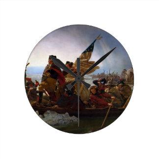 Washington Crossing the Delaware - US Vintage Art Round Clock