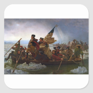 Washington Crossing the Delaware - US Vintage Art Square Sticker