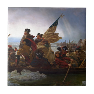 Washington Crossing the Delaware - US Vintage Art Tile