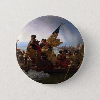 Washington Crossing the Delaware - Vintage US Art 6 Cm Round Badge