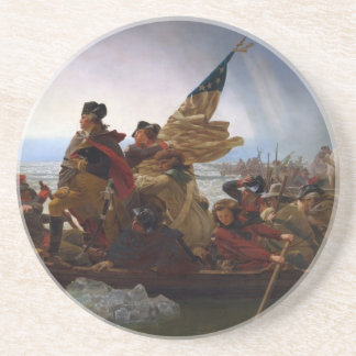 Washington Crossing the Delaware - Vintage US Art Beverage Coaster