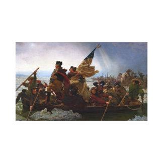 Washington Crossing the Delaware - Vintage US Art Canvas Print