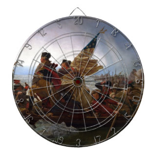 Washington Crossing the Delaware - Vintage US Art Dartboard