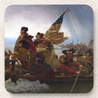 Washington Crossing the Delaware - Vintage US Art Drink Coaster