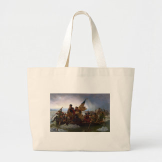 Washington Crossing the Delaware - Vintage US Art Large Tote Bag