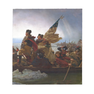 Washington Crossing the Delaware - Vintage US Art Notepad