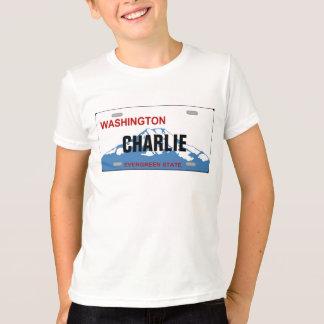 Washington custom license plate Tshirt