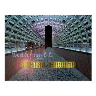 Washington D.C. and the Metro Subway Postcard