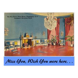 Washington D.C., Blue Room Postcard