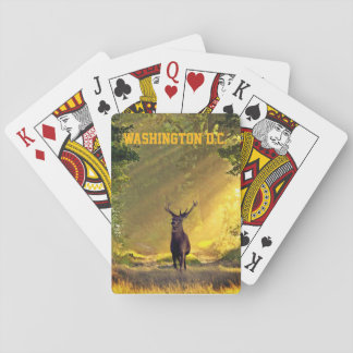 Washington D.C. Buck Deer Playing Cards