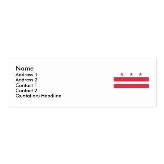Washington D.C. Flag Business Card Template