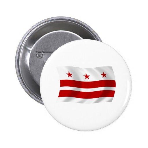 Washington D.C. Flag Button