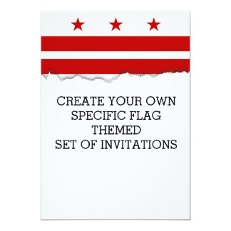 Washington D.C. flag Card