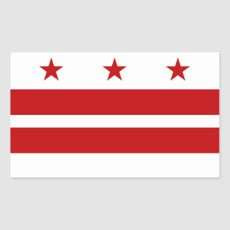 Washington D.C. flag Rectangular Sticker