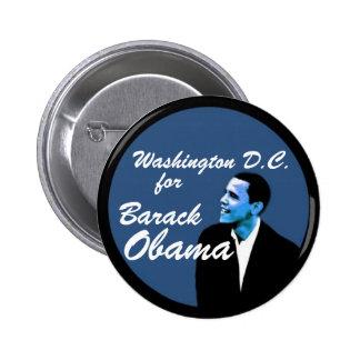 Washington D.C. for Barack Obama 6 Cm Round Badge