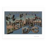 Washington D. C. - Large Letter Scenes Postcards