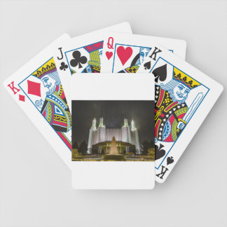 Washington D.C. Temple at Night Bicycle Playing Cards