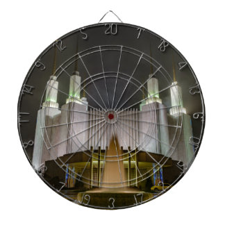 Washington D.C. Temple at Night Dart Board