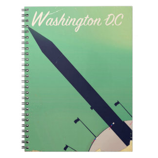 Washington D.C Vintage travel poster Notebook
