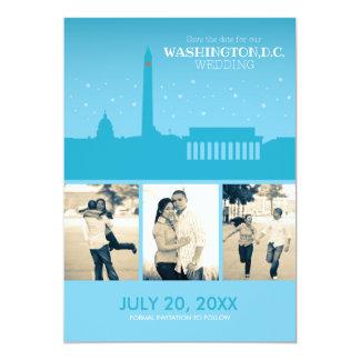 Washington D.C. Wedding Save-the-date Card