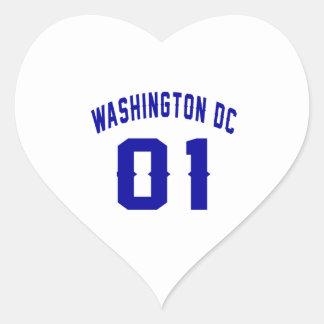 Washington DC. 1 Heart Sticker