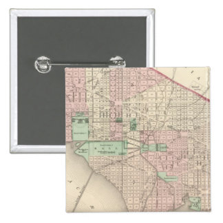 Washington DC and Georgetown 15 Cm Square Badge