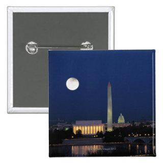 Washington DC at Night 15 Cm Square Badge