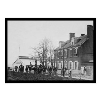 Washington, DC Blacksmith and Horses 1865 Poster