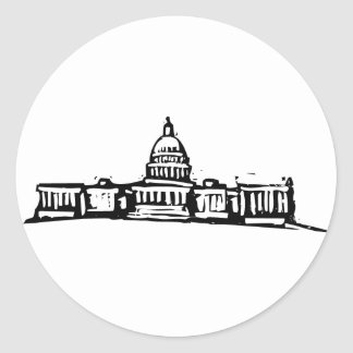 Washington DC Capital Round Sticker