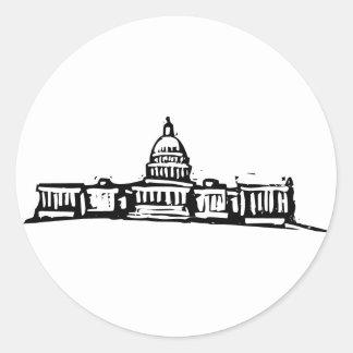 Washington DC Capital Round Sticker