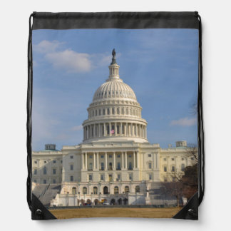 Washington DC Capitol Hill Building Drawstring Bag
