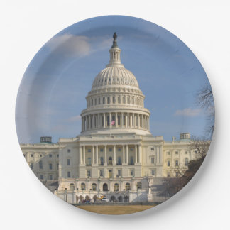 Washington DC Capitol Hill Building Paper Plate