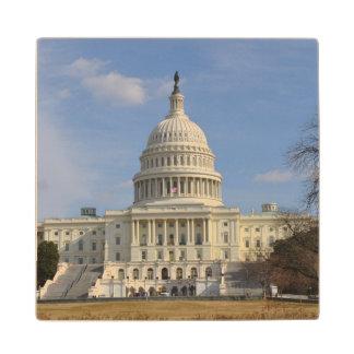 Washington DC Capitol Hill Building Wood Coaster