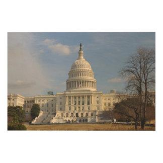 Washington DC Capitol Hill Building Wood Wall Art
