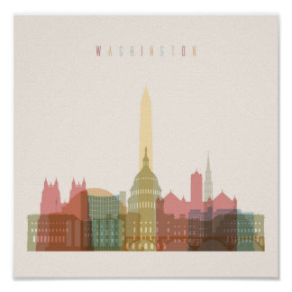 Washington, DC | City Skyline Poster