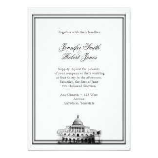 Washington DC Destination Wedding Invitation