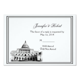 Washington DC Destination Wedding Response Card