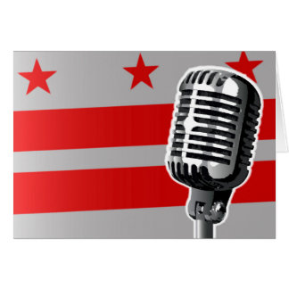 Washington DC Flag And Microphone Card