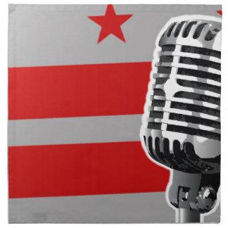 Washington DC Flag And Microphone Napkin