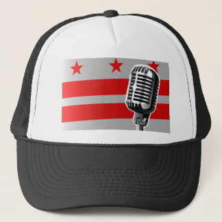 Washington DC Flag And Microphone Trucker Hat