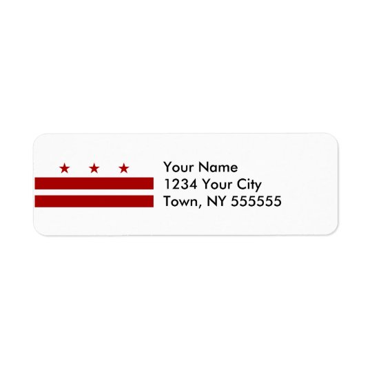 Washington DC Flag Return Address Label