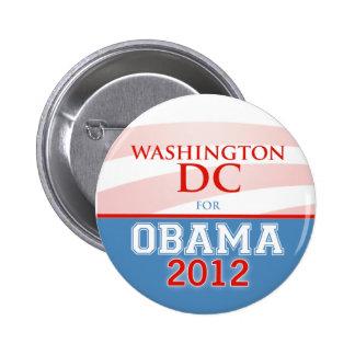 WASHINGTON DC for Obama 2012 Button