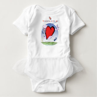 Washington DC head heart, tony fernandes Baby Bodysuit