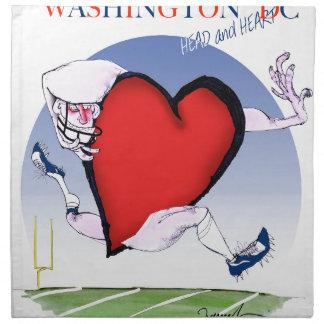 Washington DC head heart, tony fernandes Napkin